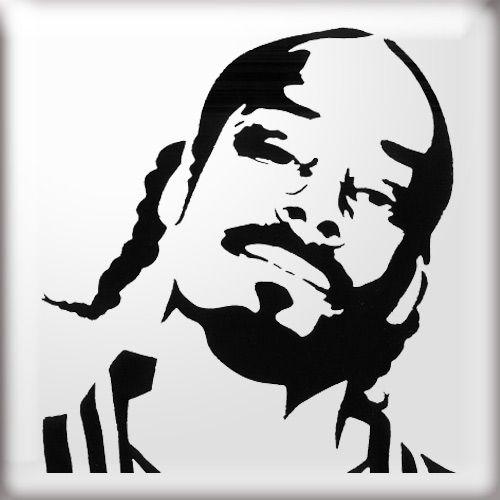 Dog Stencil, Silhouette Art, Tupac Art