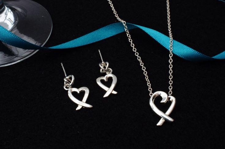 925 silver heart set £5.99