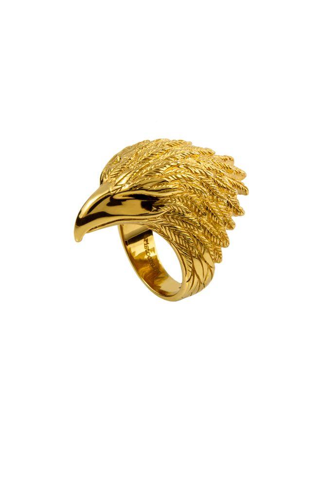 Anillo Aguila Aristocrazy en plata con baño de oro amarillo - 149€