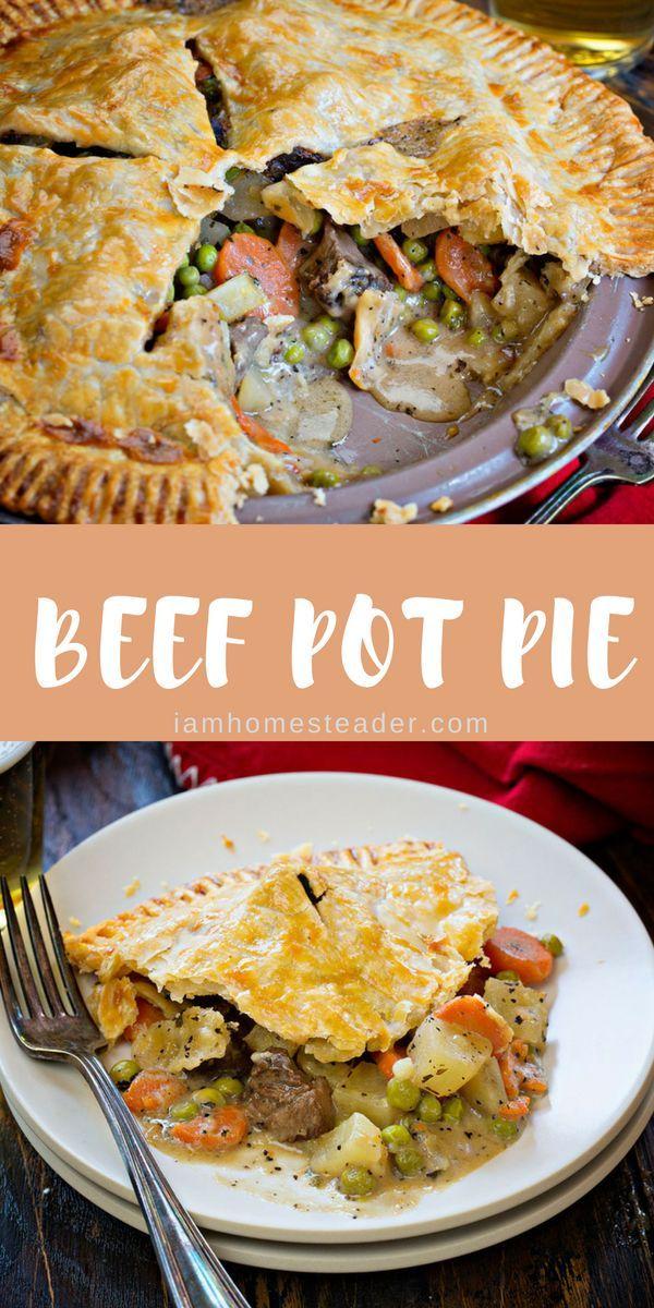 Beef Pot Pie Recipe Beef Pot Pies Beef Dinner Beef Pot Pie Recipe