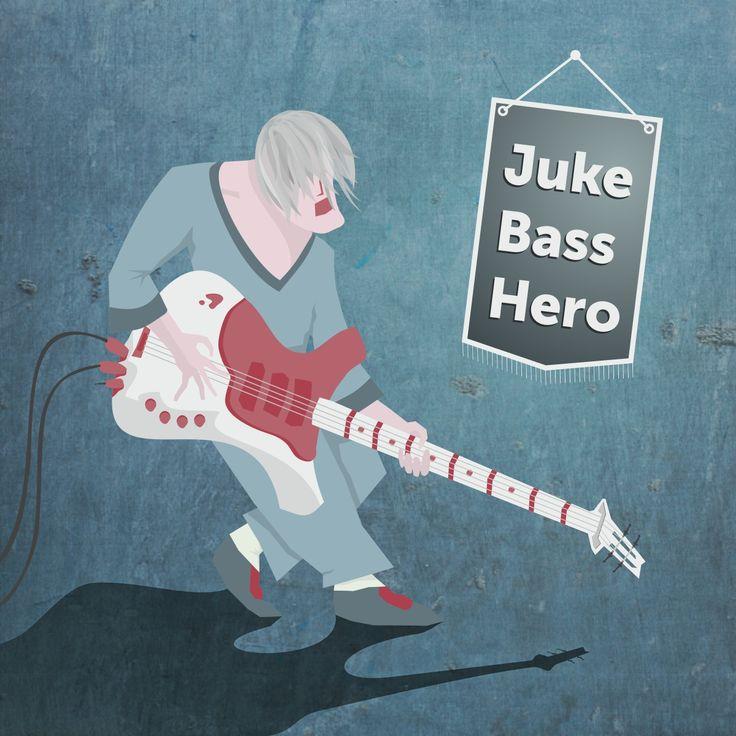 басист   бас-гитарист   графика   иллюстрация   вектор   рисунок