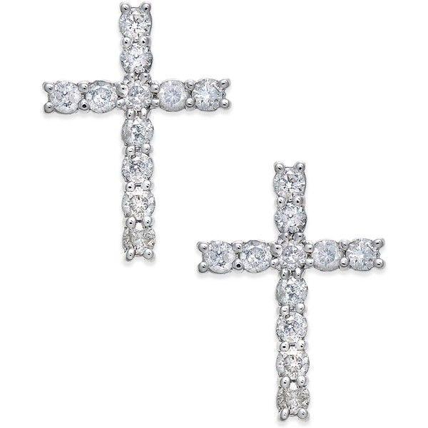 Best 25+ Diamond cross earrings ideas on Pinterest
