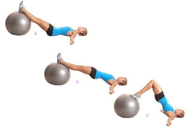 Das Po-Workout: Hüftheben auf einem Ball