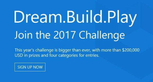 The Microsoft Corporation is sponsoring the Microsoft Dream.Build. Play 2017 Challenge that is administrating by Gage Marketing Group, LLC. The competition is open to all developers, working solo or in teams of up to seven. The Microsoft will provide four (4) grand prizes of $225,000 USD.