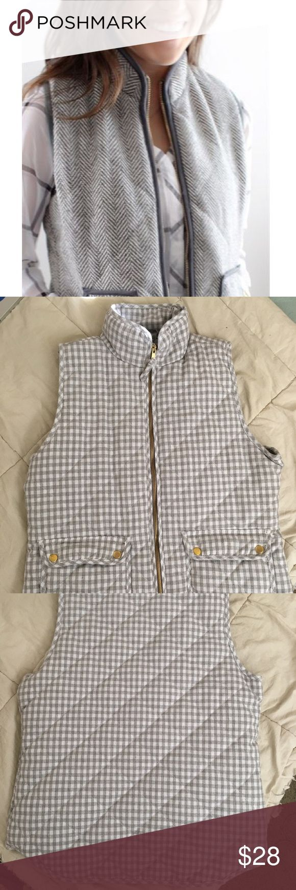 Selling this Quilted Checkered Vest on Poshmark! My username is: mersinamarie. #shopmycloset #poshmark #fashion #shopping #style #forsale #Francesca's Collections #Jackets & Blazers
