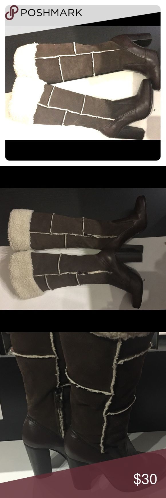 COLIN STUART LEATHER AND SUEDE BOOTS ❤️❤️❤️❤️ Lovely boots gently used worn twicehas a few wrinkles at the middle of boots by toe but I think that's the give on the leather other then that in tact Colin Stuart Shoes Over the Knee Boots