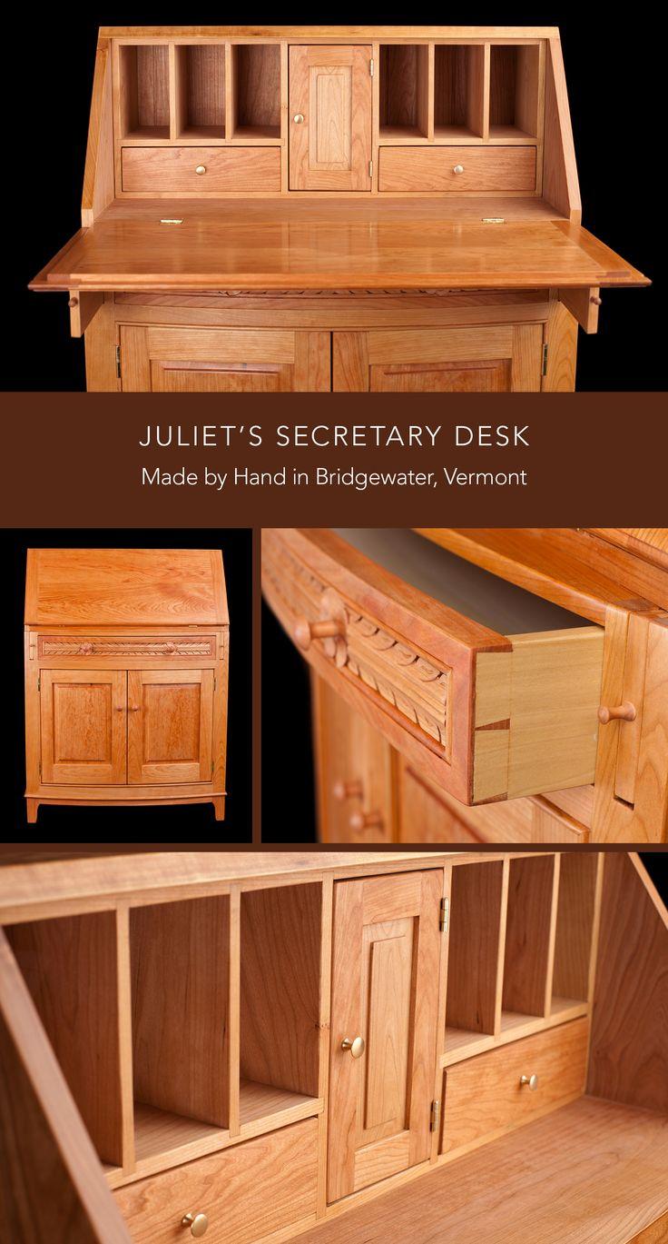Juliet S Secretary Desk In Cherry Handmade By Master Furniture Maker Kevin Sweeney Custom