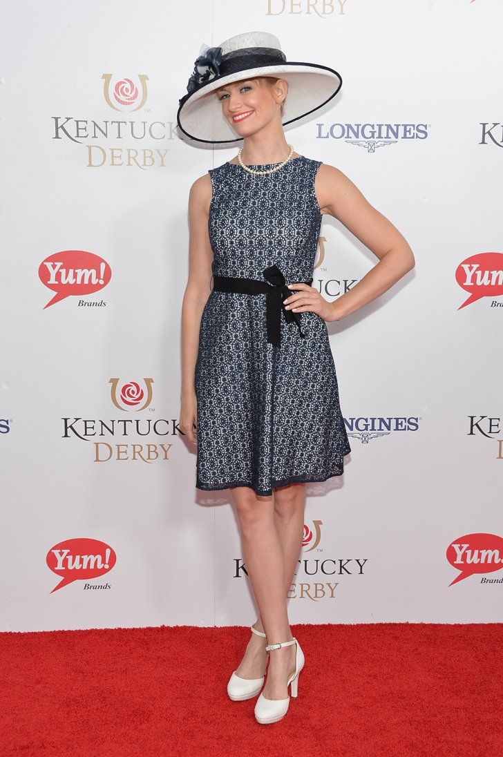 Pin for Later: No Really, Kristen Bell's Never Looked Better Beth Behrs Beth Behrs at the Kentucky Derby.