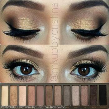 Naked pallet. I really like nude, gold and brown eye shadows.