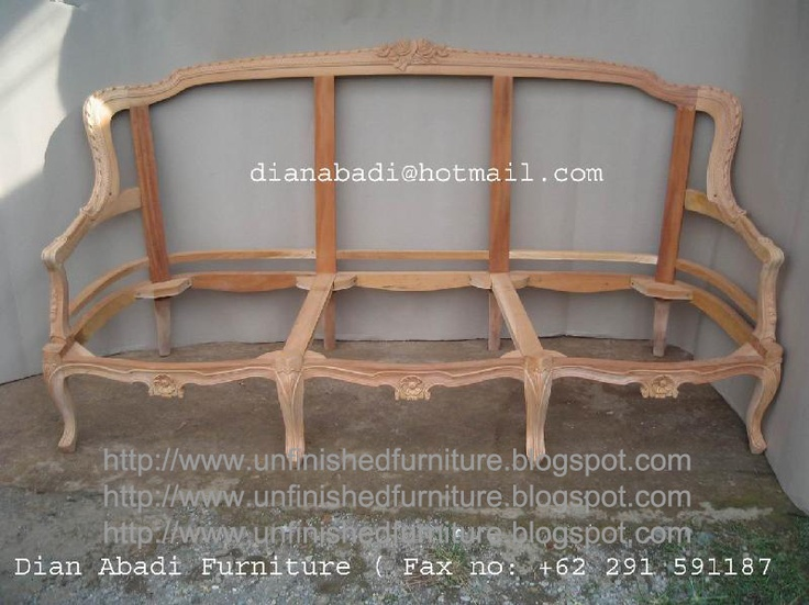 Unfinished mahogany Furniture, Rose carved wooden frame sofas seat for living room , made of fine solid kiln dry mahogany wood. Present in unfinished furniture condition ( raw furniture, ready to painted or no color stain finished ). Please contact us Antiques Indonesian Furniture supplier, French style furniture, Italian style furniture, English style furniture : Email :dianabadi@hotmail.com Facsimile & Phone : + 62 291 591187 www.unfinishedfur...