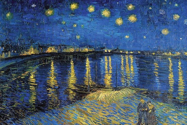 Vincent Van Gogh - The Starry Night [1888]: Vincent Of Onofrio, Rhone, Artists, Vincent Vans Gogh, Art Prints, Starrynight, Vincentvangogh, Paintings, Starry Nights