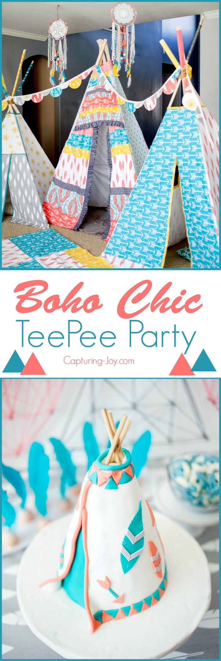 Tribal Boho Chic TeePee Party. Great party theme for a preteen! Capturing-Joy.com