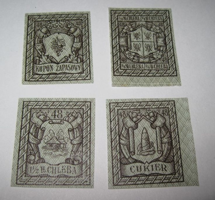 Poland Germany Russia Warsaw Ration Stamp Cinderella stamp 1910-1921 4r32 - product images