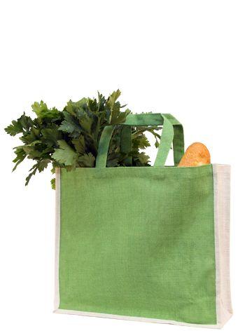 Jute grocery shopper bag - Custom Jute Bags - Smartbag