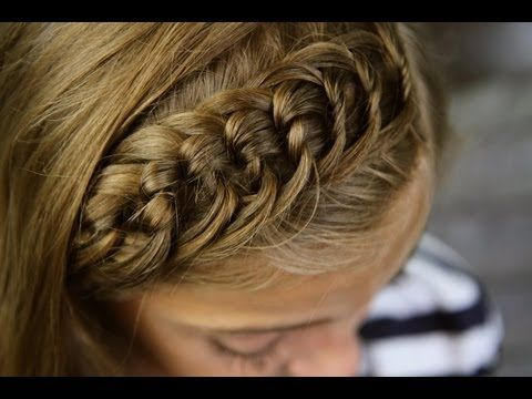 The Knotted Headband | Bangs or Fringe | Cute Girls Hairstyles - YouTube