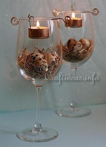 22 Interesting DIY Wine Glass Centerpieces