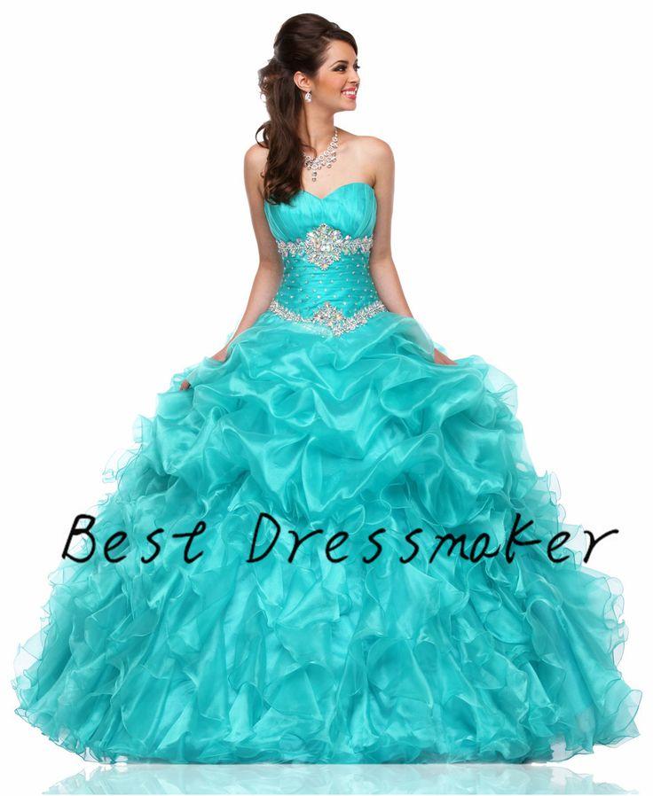 Индивидуальные зеленая мята пышное платье 2016 Vestido 15 Anos сладкий 16 маскарад платья дешевые Quinceanera платья