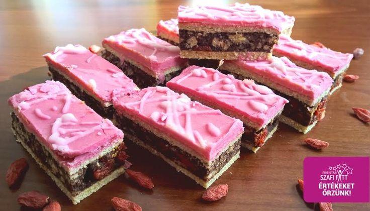 Diétás puncs szelet (gluténmentes, tejmentes, paleo recept) ~ Éhezésmentes Karcsúság Szafival