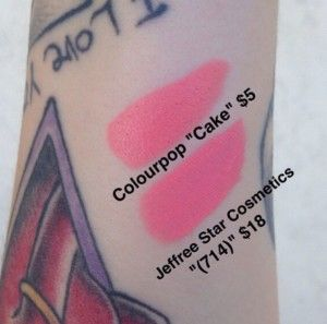 "Colourpop ""cake"" is a dupe for Jeffree Star ""(714)"""