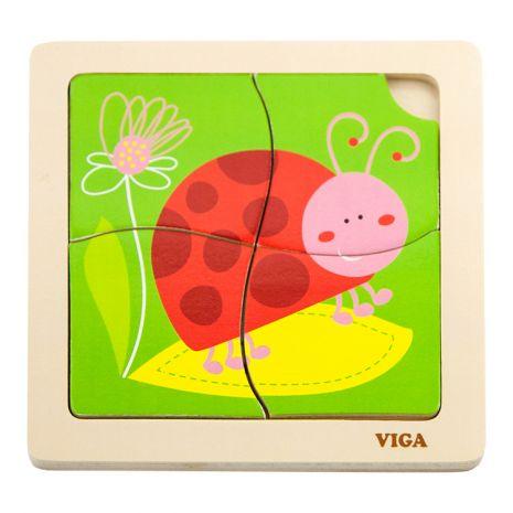 Katicás puzzle kicsiknek 4 db-os | Pandatanoda.hu Játék webáruház