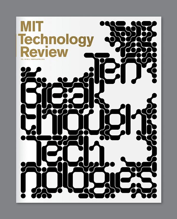 Work / Graphic Design Jessica Svendsen's striking designs for the spring issue of MIT Technology Review