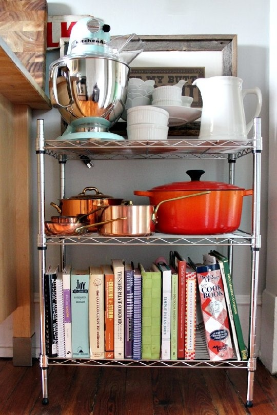 wire shelving units in the kitchen simple cheap and yes stylish organization - Shelving Units Ideas