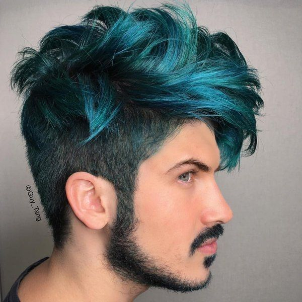 6 Startling Hair Color Ideas For Men To Rock The Party Blue