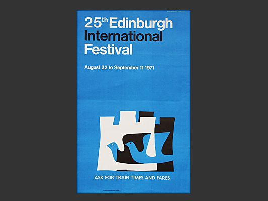 Hans Schleger – 25th Edinburgh International Festival, 1971