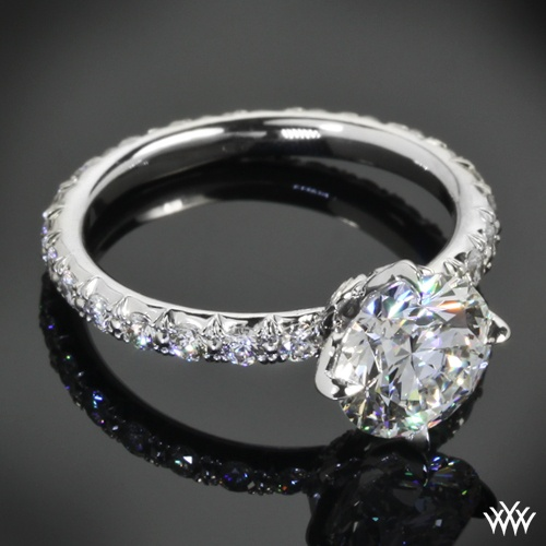 quot lotus quot by mege engagement ring featuring 1 00ct a