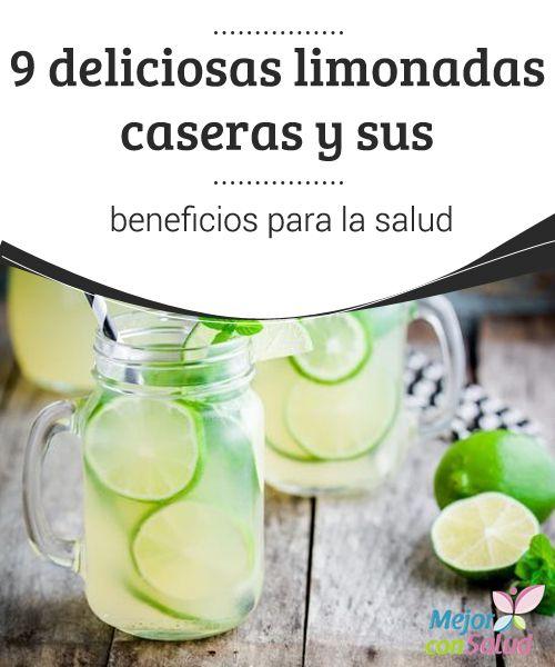 9 deliciosas #limonadas caseras y sus #beneficios para la salud  Al combinar las propiedades del limón con las de otros ingredientes medicinales podemos obtener diferentes limonadas naturales con múltiples beneficios para nuestra #salud y así evitar los refrescos comerciales #Recetas