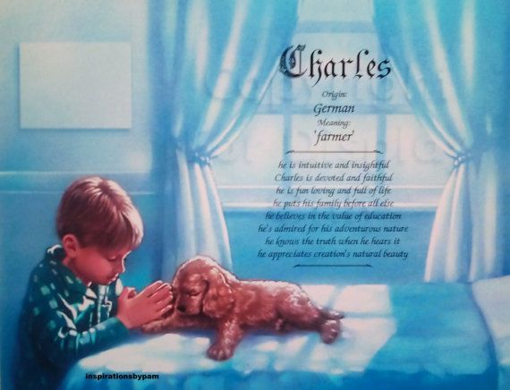 First Name Meaning Art Print-Charles Name by  inspirationsbypam #etsyshop #etsyseller #handmade
