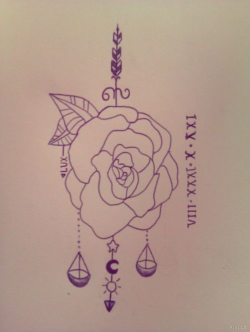 libra zodiac tattoo scale drawing nice drawing of zodiac libra tattoo ...