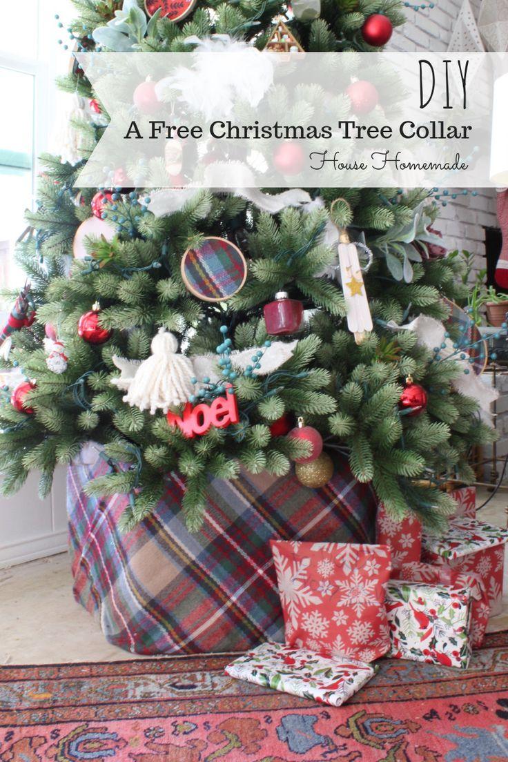 A Free Christmas Tree Collar DIY Diy christmas tree