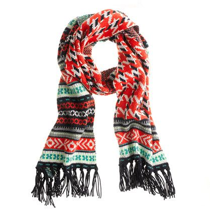 J.Crew Pattern Mix Scarf