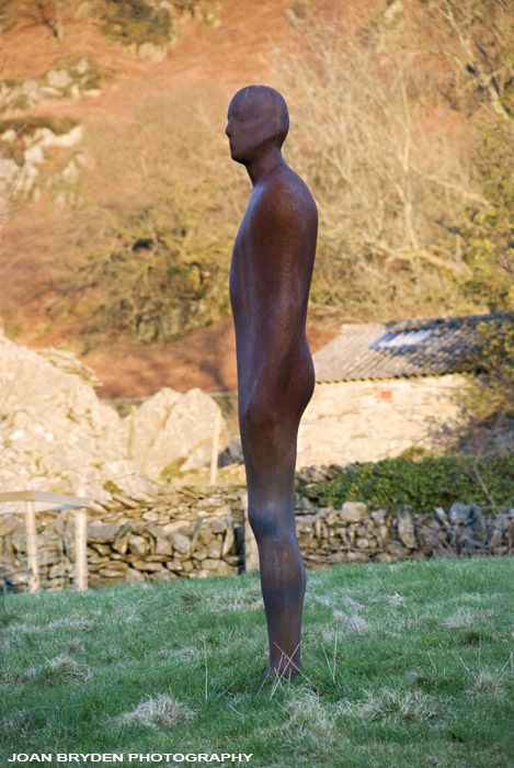 Anthony Gormley Statue, Coniston, the Lake District, Cumbria