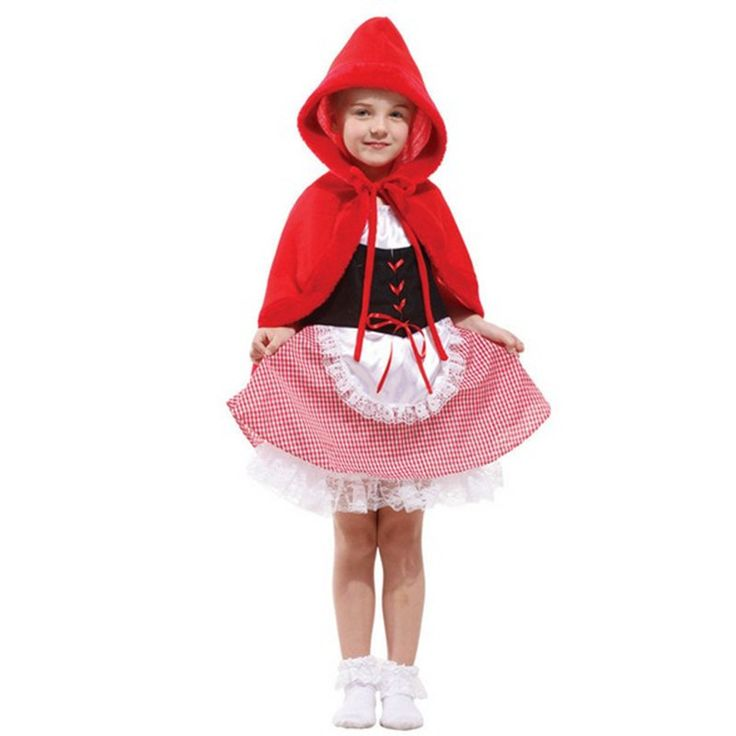 Hot Sale Halloween Costume For Kids Little Red Riding Hood Children's Fancy Dress Sexy Carnival Party Girls Clothes Gifts |
