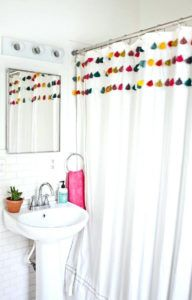 Bright Colored Beach Shower Curtains