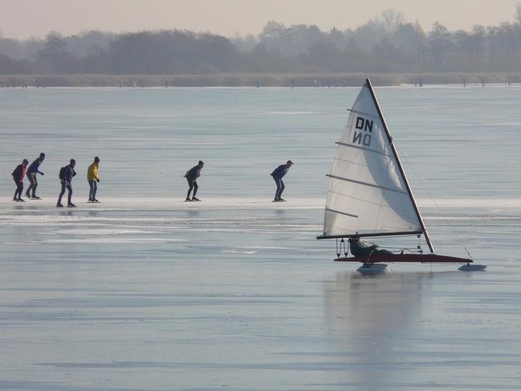#Schaatsen op het #Zuidlaardermeer mogelijk op 10 km afstand van #Oosterweg36 #Haren #Gn