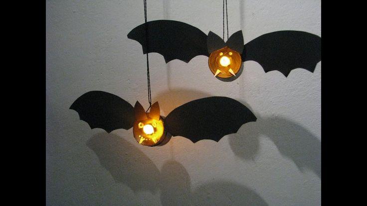 Jak zrobić na Halloween nietoperza z lampki - Pomysły plastyczne dla każ...