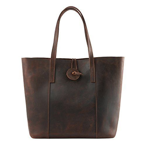 New Trending Shopper Bags: Kattee Womens Vintage Cow Leather Tote Shopper Shoulder Bag Coffee. Kattee Women's Vintage Cow Leather Tote Shopper Shoulder Bag Coffee   Special Offer: $89.99      422 Reviews Basic Informations: Dimension: L12.99″ *H12.59″ *D5.51″ Net weight: 2.6lb Remarks: 1. This product is made from top quality leather and has that wonderful new...