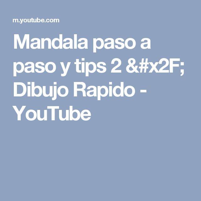 Mandala paso a paso y tips 2 / Dibujo Rapido - YouTube