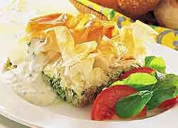 Spinach and Feta Pie recipe from Food in a Minute
