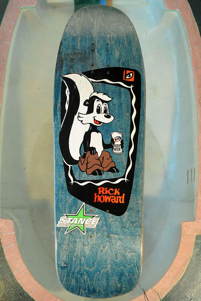 NOS Skateboard Deck Blockhead Rick Howard Skunk, Original Vinage deck, not a rei