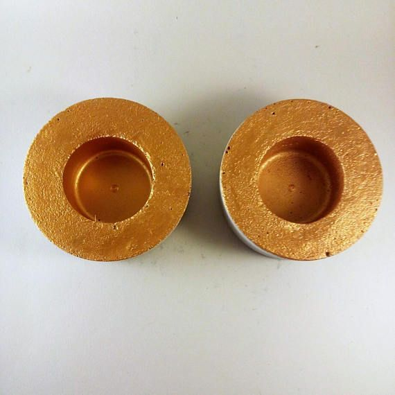 Set of two concrete tealights