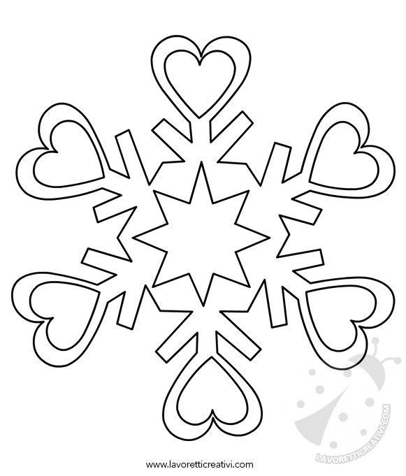 Fiocchi Di Neve Disegni Per Bambini Stampae Colorare