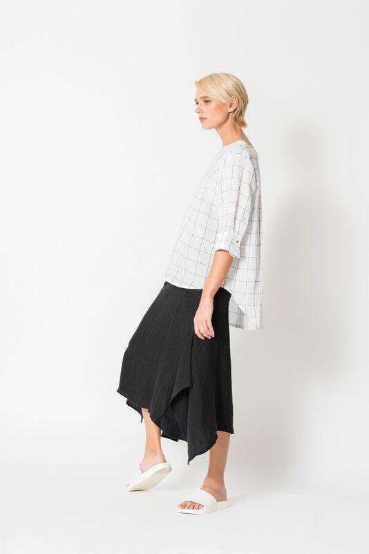 Chalice - Hem Drape Skirt - Chalice