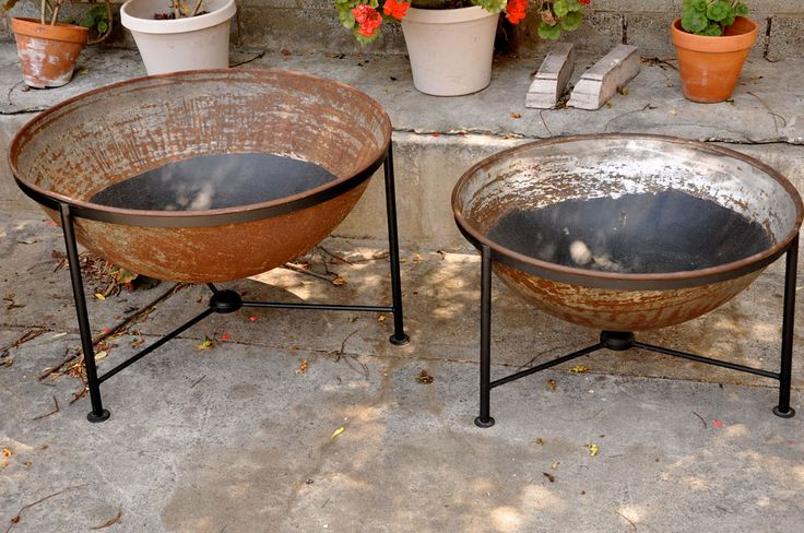 Industrial Bowls as Planters 2