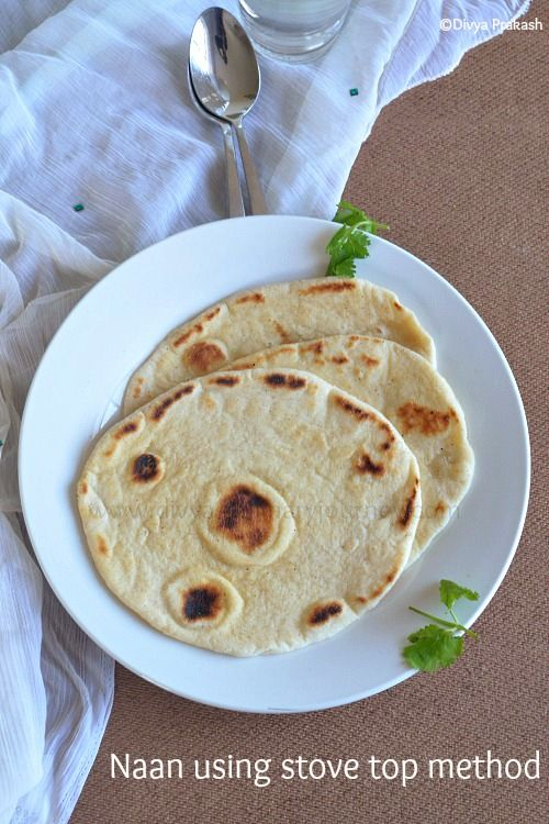 how to cook naan bread on stove top