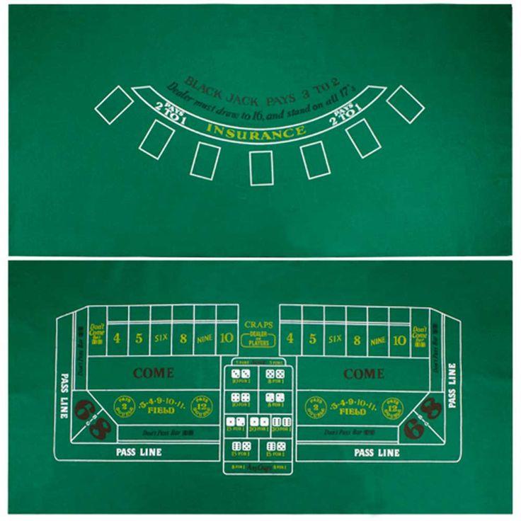 Blackjack and Craps Casino Table Felt $9.99