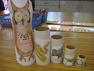 Science: This activity can be a great way to show food chains of various animals throughout the US. Students can color and cut out the various animals, and stack the tubes inside one another to show how the life cycle goes. This would be a fun interactive activity that student can enjoy.